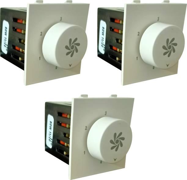 PRV SWITCH 5 STEP -3PC FAN REGULATOR Step-Type Button Regulator High speed t-001 Conventional Box Regulator