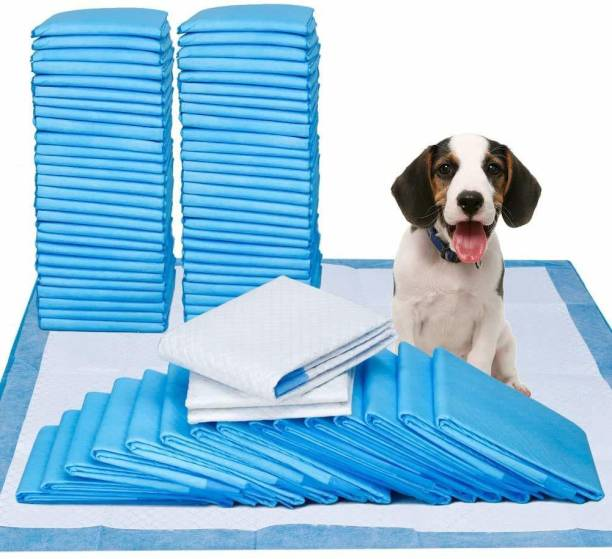 Multani Di Hatti Dog Training Pads/Size: XL/60 x 90 cm/10 Count/Training Pee and Potty Pads with Quick Drying Surface and Absorbent Core/Suitable for Small/Large Breed Puppies Dog Diapers Disposable Dog Diapers