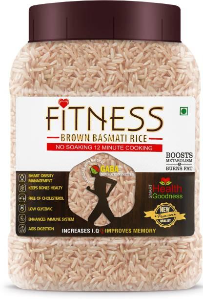 SHRILALMAHAL Fitness Brown Basmati Rice (Weight Loss Special), 1 Kg X 4 Brown Basmati Rice (Long Grain)