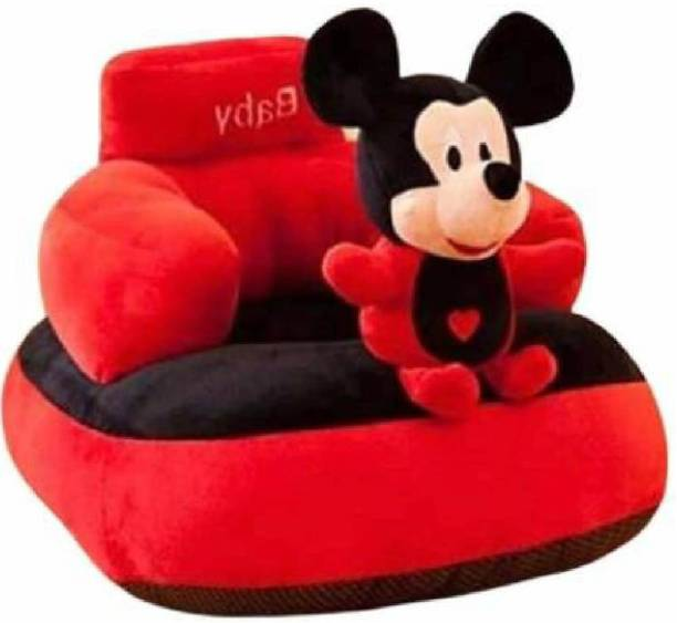EsKimo Mickey Shape Soft Plush Cushion Baby Sofa Seat or Rocking Chair for Kids  - 45 cm