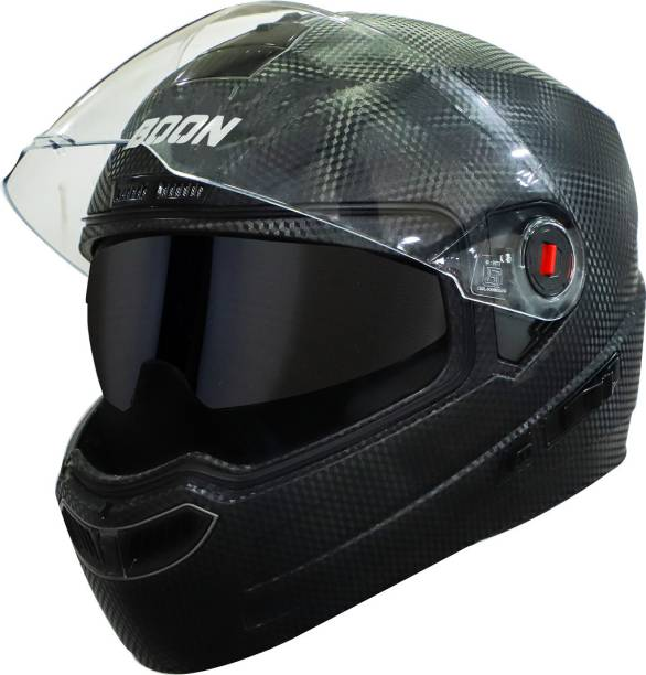 Steelbird SBA-1 7Wings Boon Double Visor Full Face Helmet, Inner Silver Sun Shield Motorbike Helmet