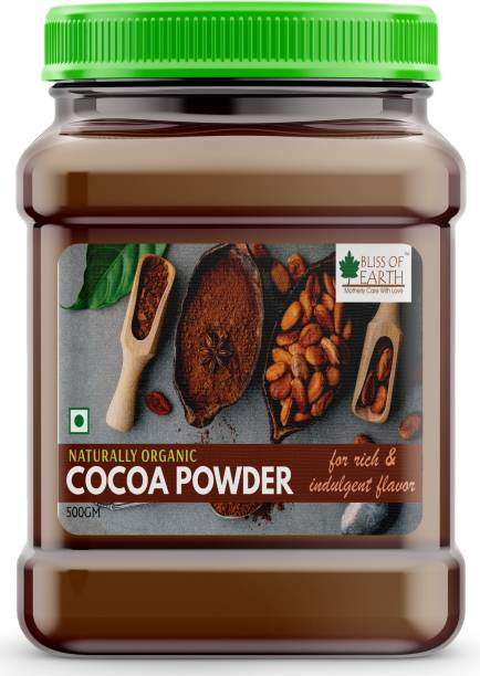 Bliss of Earth 500gm Dark Unsweetened Cocoa Powder For Chocolate Cake Baking, Shake & Smoothies Cocoa Powder