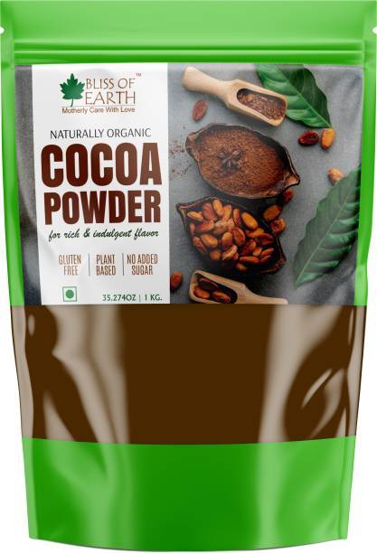 Bliss of Earth Raw & Unsweetened Cocoa Powder 1kg For Chocolate Cake Making Cocoa Powder