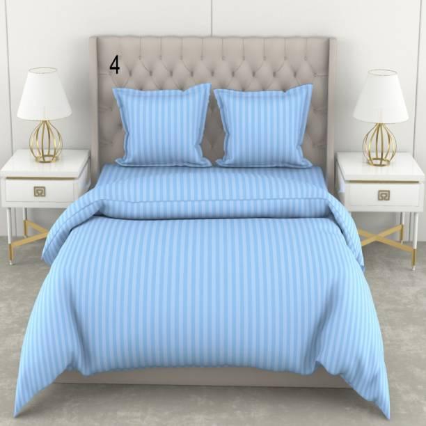 Varsha 210 TC Cotton Double Striped Bedsheet