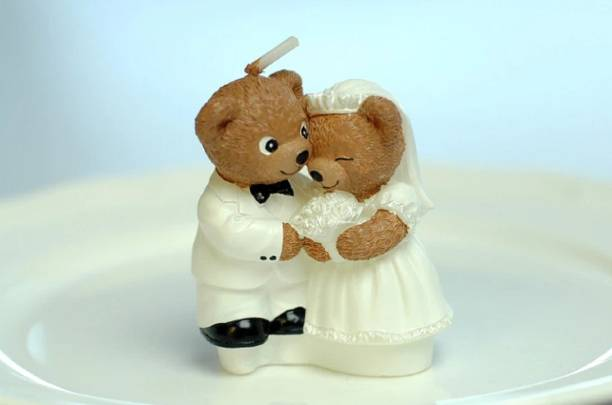 ONESTOP HOME Teddy Bear couple Candle Candle