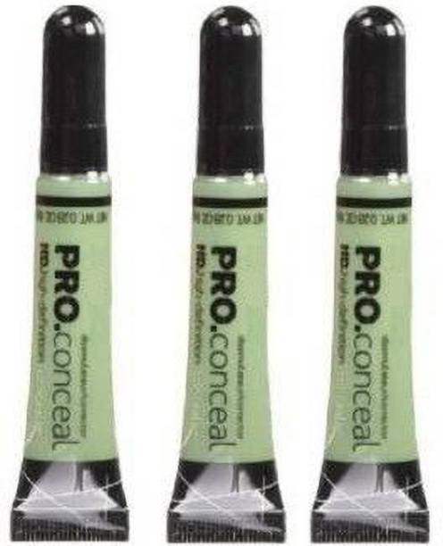 FUFA HD Pro Green Corrector Concealer set of 3 Concealer (green, 24 g) Concealer