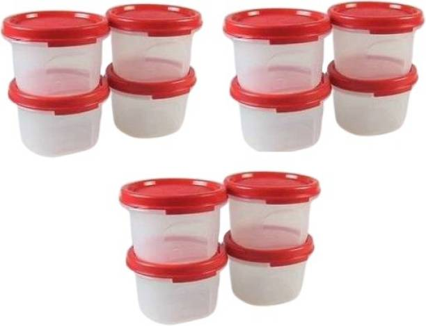 TUPPERWARE mm round Polypropylene Grocery Container 200ml set of 12  - 200 ml Plastic Grocery Container