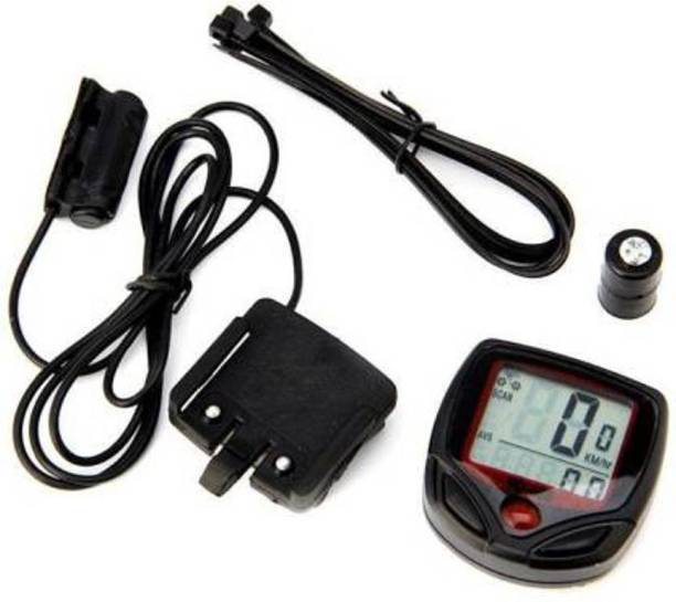 Afpin Bicycle Speedometer - Current Speed, Odometer, Trip Distance, Max/Avg Speed Wired Cyclocomputer
