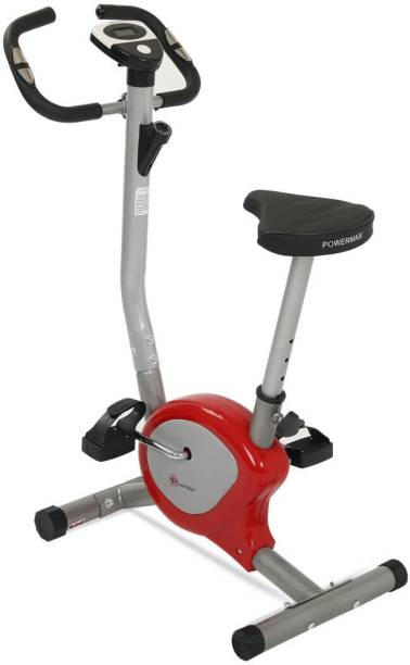 Powermax Fitness BU-200 Magnetic Upright Bike for Home Use Upright Stationary Exercise Bike
