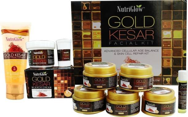 NutriGlow Gold Kesar Facial Kit (250+10)g Makeup Kit
