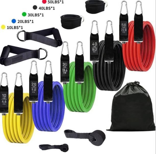 Bombus 11 Pcs/Set Resistance Band Tube Home Gym Workout Exercise Training for Men & Women Resistance Tube