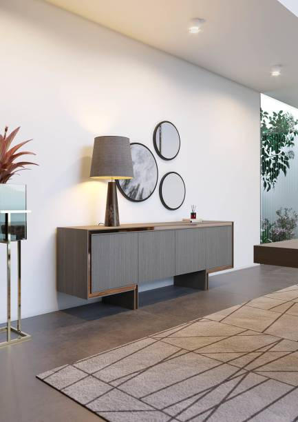 Area Canes Engineered Wood Console Table