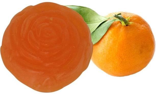 Soulflower Orange Pure Gylcerin Soap 100g, 100% Premium & Pure, Natural & Undiluted, For Acne Control, Skin Care, Luxury, Premium Handmade Soap