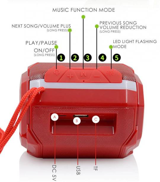 YODNSO Bluetooth Speaker HD Audio, USB, Micro SD Card, Compatible with All Smartphone 5 W Bluetooth Laptop/Desktop Speaker