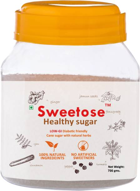 Sweetose Healthy Sugar - Free from Chemicals / No Artificial Sweetener - LOW GI Sugar