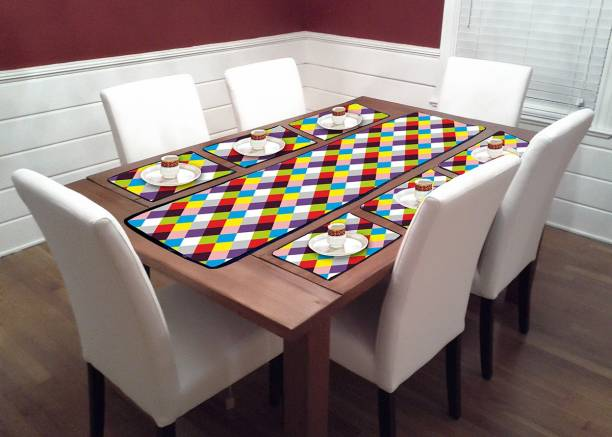 Newleaf Trends Multicolor PVC Table Linen Set