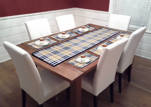 Newleaf Trends Brown PVC Table Linen Set