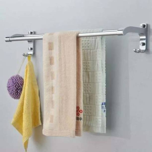 Frap Aluminium Double Towel rod Silver Towel Holder