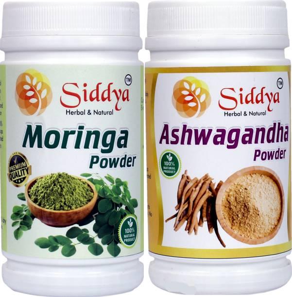 Siddya Ashwgandha Powder Moringa Powder Combo