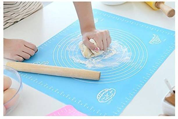 GAURINANDAN Non-Stick Silicon Reusable Pastry Fondant Dough Roti Chapati Rolling Baking Sheet Mat with Measurements [48 * 38cm] Food-grade Silicone Baking Mat