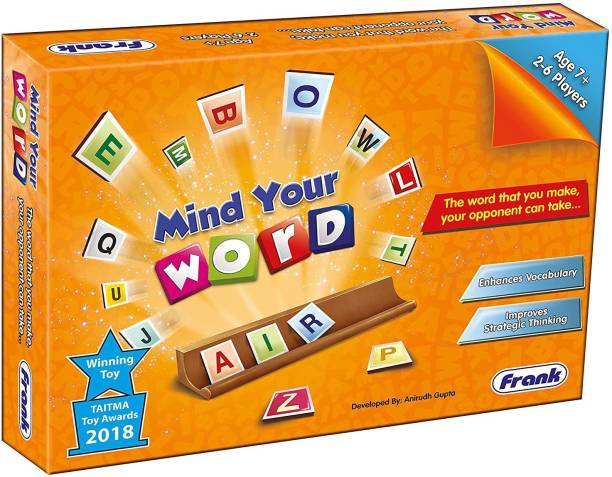 Frank Mind Your Word Board Game for 7 Year Old Kids and Above 22135 Word Games Board Game