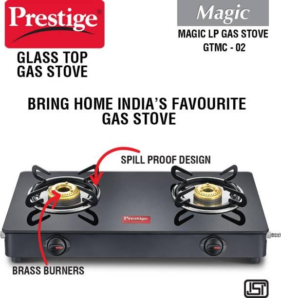 Prestige Magic GTMC Glass, Steel Manual Gas Stove