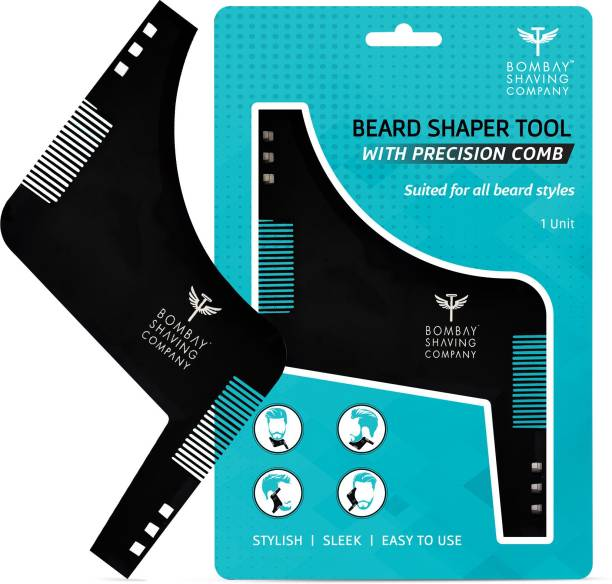 BOMBAY SHAVING COMPANY Beard Shaper Tool With Comb For Men, Home And Salon Use, Men Beard Accessories