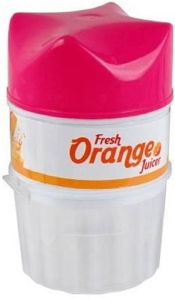 MYYNTI Plastic Hand Juicer Orange Juicer Lemon Squeezer, Manual Hand Juicer with Strainer and Container, for Lemon,Orange,Lime,Citrus