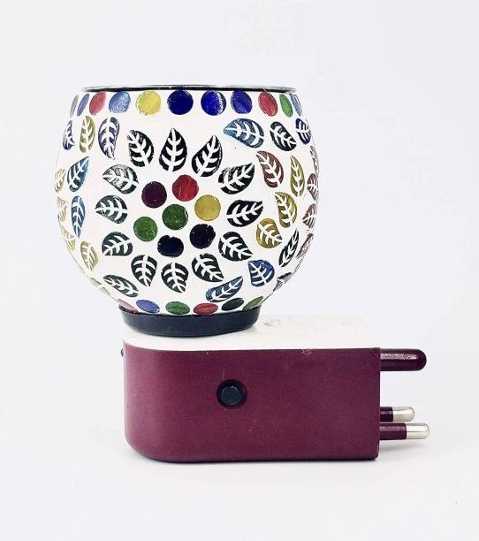 Nightstar Electric Kapoor Dani Stand Fragrance Oil Diffuser Burner Night Lamp in-Built Switch Heating On/Off Button for Office Home Ceramic Incense Holder