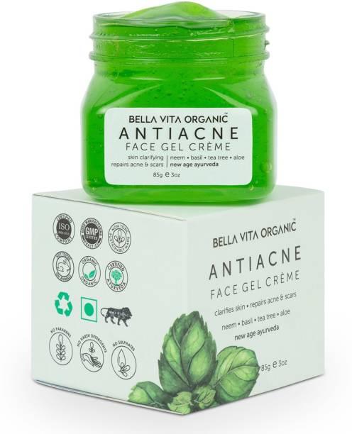 Bella vita organic Anti Acne Cream Gel & Pimple Face Gel With Neem, Tulsi & Aloe Vera