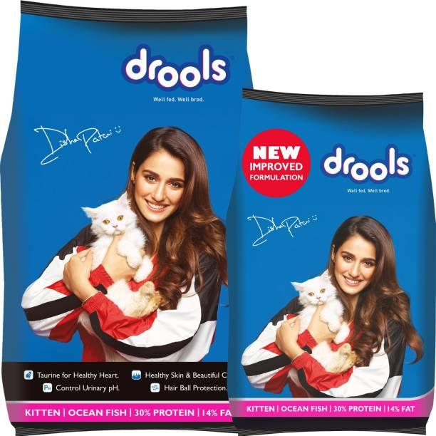 drools 400 g cat food free with Drools 1.2 kg Ocean Fish 1.6 kg Dry Young Cat Food