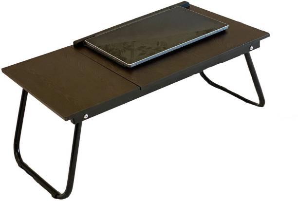 TidyHomz Brisbane Laptop Table- Dark Brown Metal Portable Laptop Table