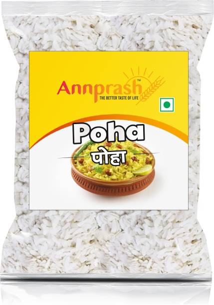 ANNPRASH PREMIUM QUALITY POHA /FLATTENED RICE - 500GM Poha (Long Grain, Raw)