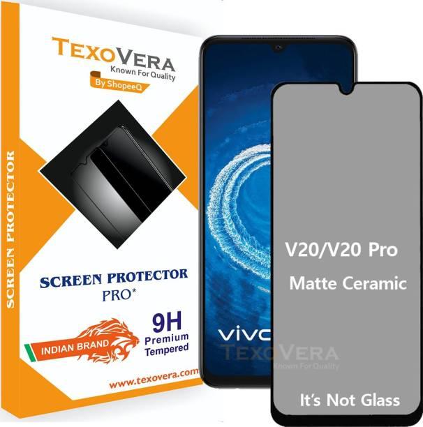 TexoVera Edge To Edge Tempered Glass for Vivo V20 SE, Vivo V20