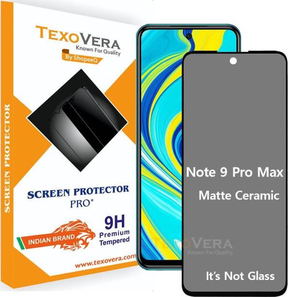 TexoVera Edge To Edge Tempered Glass for Redmi Note 9 Pro Max