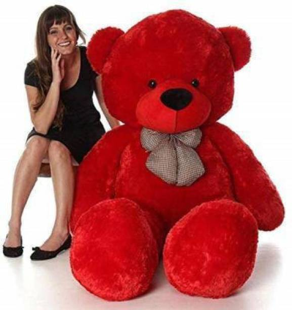 Mukund 3 feet Teddy Bear Very Soft to Lovable & Huggable (Red)- 90cm - 90 (Red)  - 90 cm