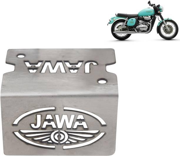 Ramanta Stainless Steel Bike Front Disc Brake Fluid Reservoir Cap Cover Guard Protector - Pack of 1 (for Jawas) Bike Crash Guard