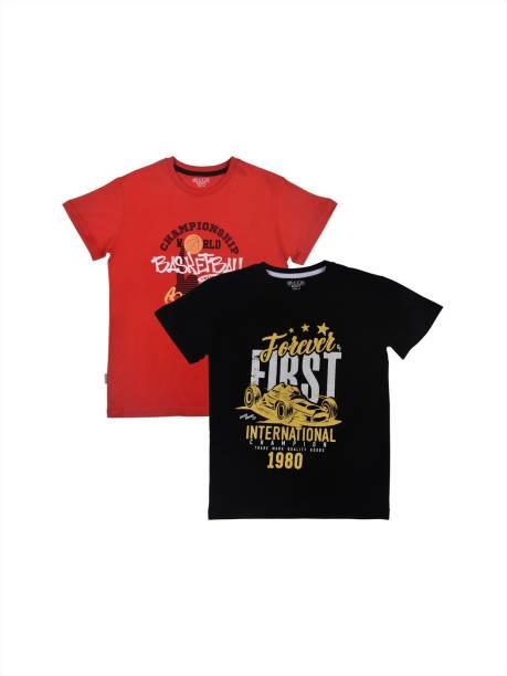 GINI & JONY Boys Printed Cotton Blend T Shirt