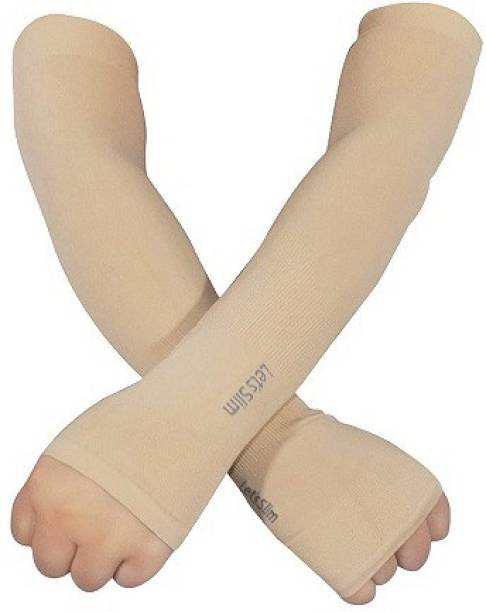Ever Mall Stretchable One Size Arm Sleeves with Thumb Hole for Men & Women Driving Gloves