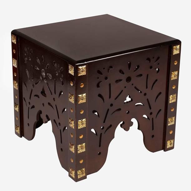 Amaze Shoppee Wooden Beautiful Handmade Stool - Antique Table for Bedroom, Hall, Balcony, Living Room - Wood Corner Side Stools Living & Bedroom Stool