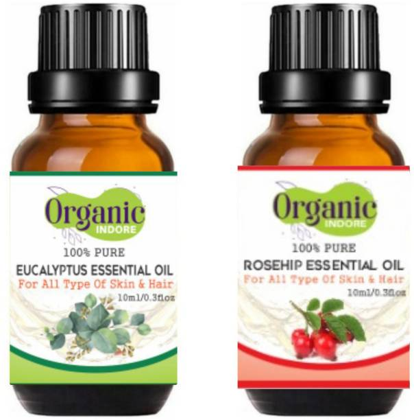 OrganicIndore Eucalyptus oil and Rosehip oil for skin and hair