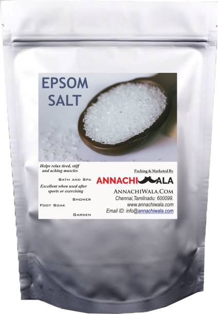 ANNACHIWALA Epsom Salt 1kg for For Plant Growth & Plant Nutrient | Muscle Releif, Relives Aches & Pain Pure 100% Natural Natural Method Made