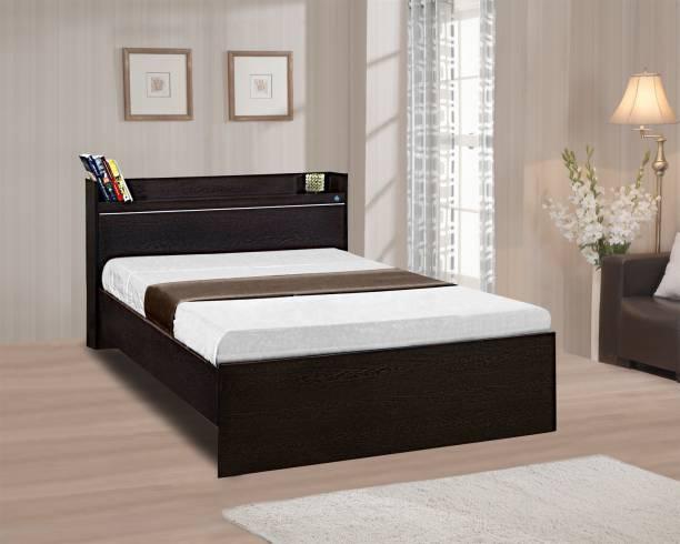 Delite Kom Plum Engineered Wood Single Bed