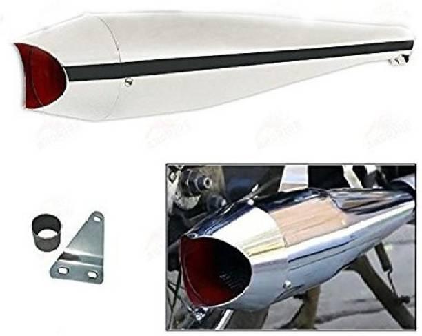 Golden Fox Shark silencer Chrome Royal Enfield Classic 350, Classic 500, Electra 350 Full Exhaust System