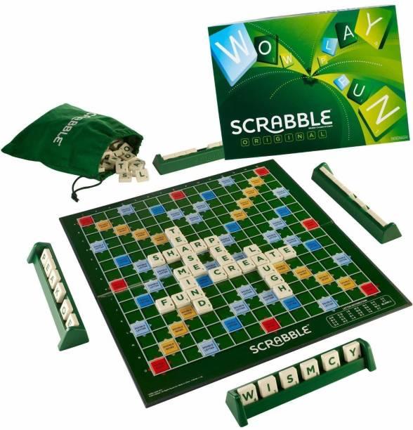 krenz Multi-Player Crossword Scrabble Board Game   Big Size Spelling Game for Kids & Adult   Educational Board Games Board Game Accessories Board Game