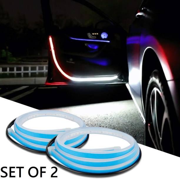 FABTEC Car Door Warning Premium Light 144 LED Interior Door Safety (IP 68 Waterproof Rating) Moving Led Car Fancy Lights