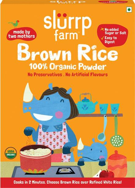 Slurrp Farm Organic Brown Rice Powder, Instant Healthy Wholesome Food, 250 g Cereal (6+ Months) Cereal