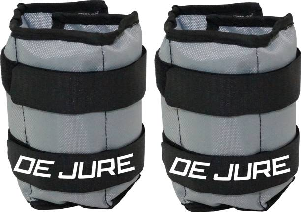 DE JURE FITNESS ANKLE WEIGHT (GREY-BLACK) 1.5KG PAIR (1.5KG X 2 PCS) Grey Ankle Weight, Wrist Weight