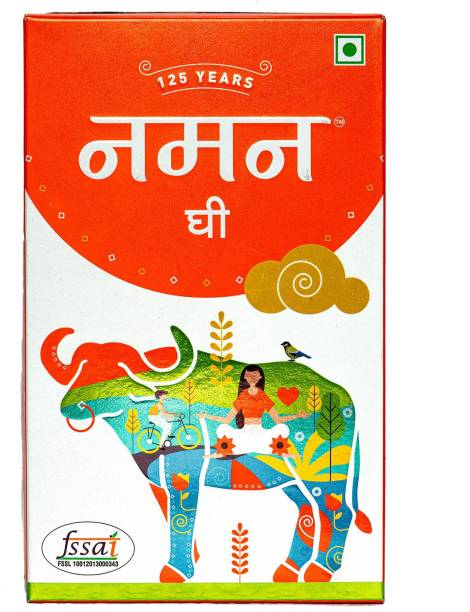 NAMAN Desi Buffalo Ghee Mono Carton Pack - 1 Ltr, Perfect for cooking, Safe & Hygienic, Boosts Immunity, Healthy for Consumption, Rich Aroma, Enhances the tastes, Choice of every Indian. Ghee 1 kg Carton