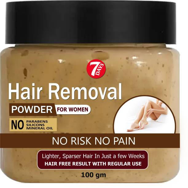 7 Days Pure Hair Removal Powder Three in one Use For Powder D-Tan Skin, Removing Hair Cream